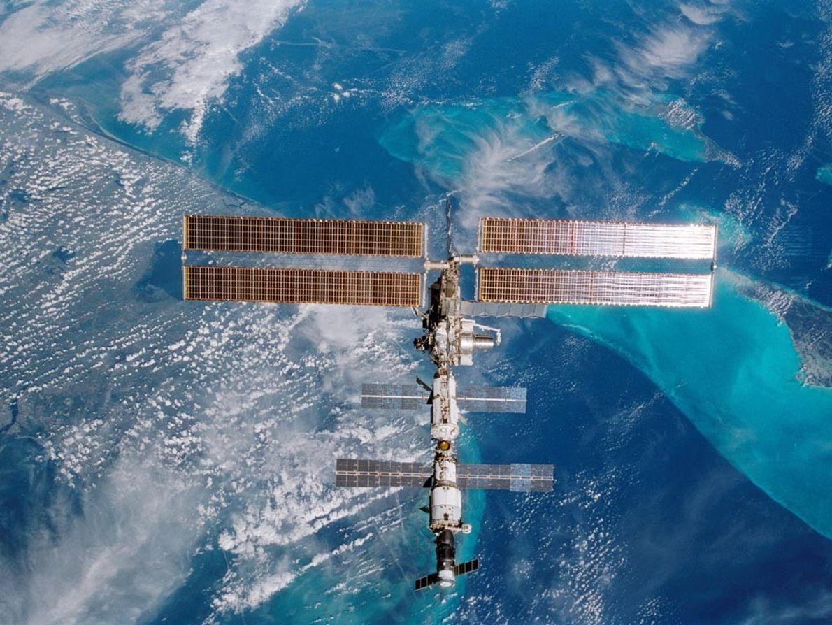 Les eaux turquoises de Miami, en Floride, scintillent sous la Station spatiale internationale alors qu'elle se ...
