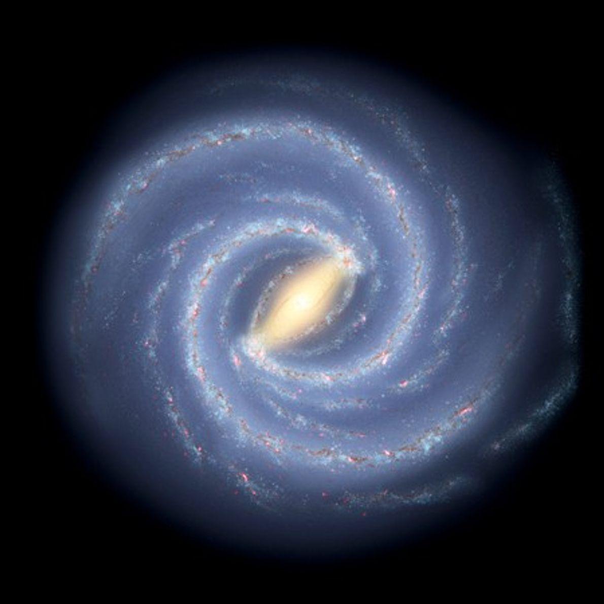 Cette illustration de 2008 présente un nouveau regard sur notre galaxie, la voie lactée. Les scientifiques ...