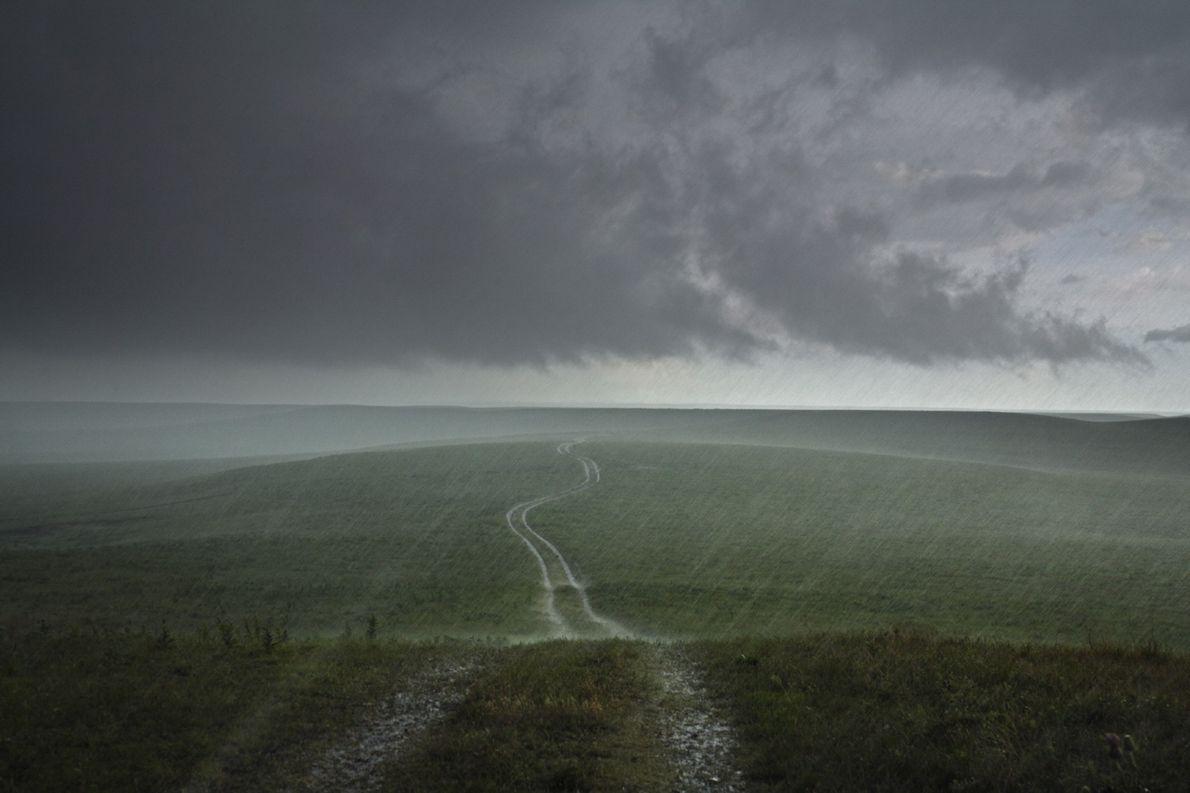 Un orage surplombe les Flint Hills, au Kansas.