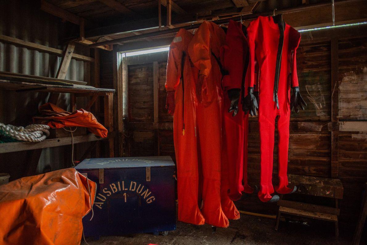Les personnes qui séjourneront sur le Polarstern d'octobre à mars devront endurer l'hiver de l'Arctique, une ...