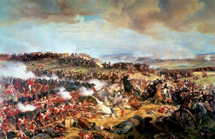 Cette peinture à l'huile de 1874 de Félix Philippoteaux montre l'une des dernières charges de la ...