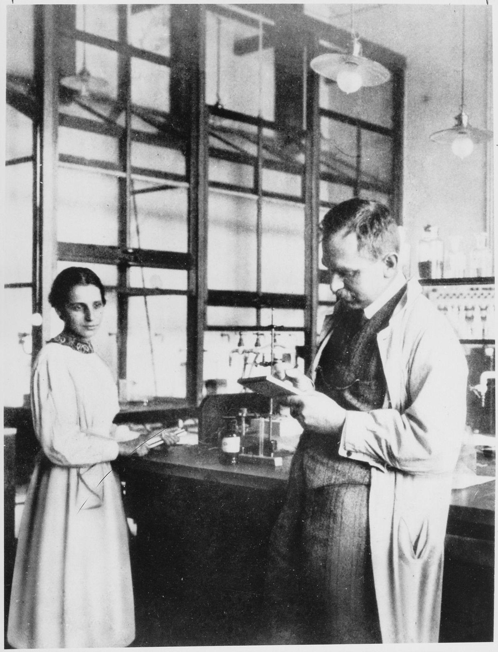 Lise Meitner et Otto Hahn