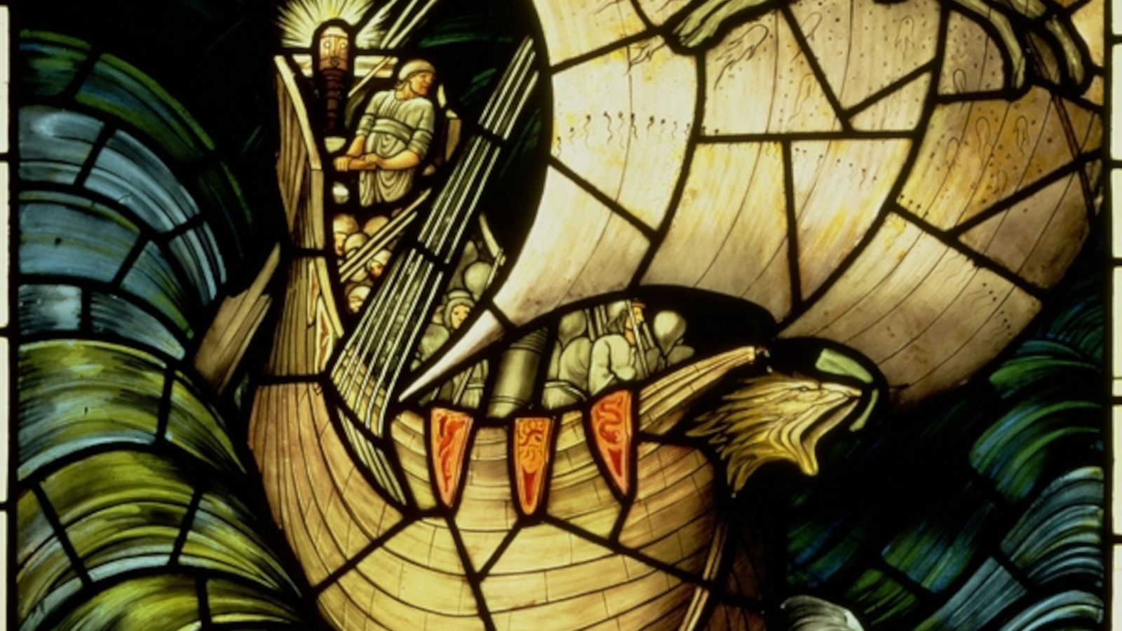 Viking Ship (stained glass)