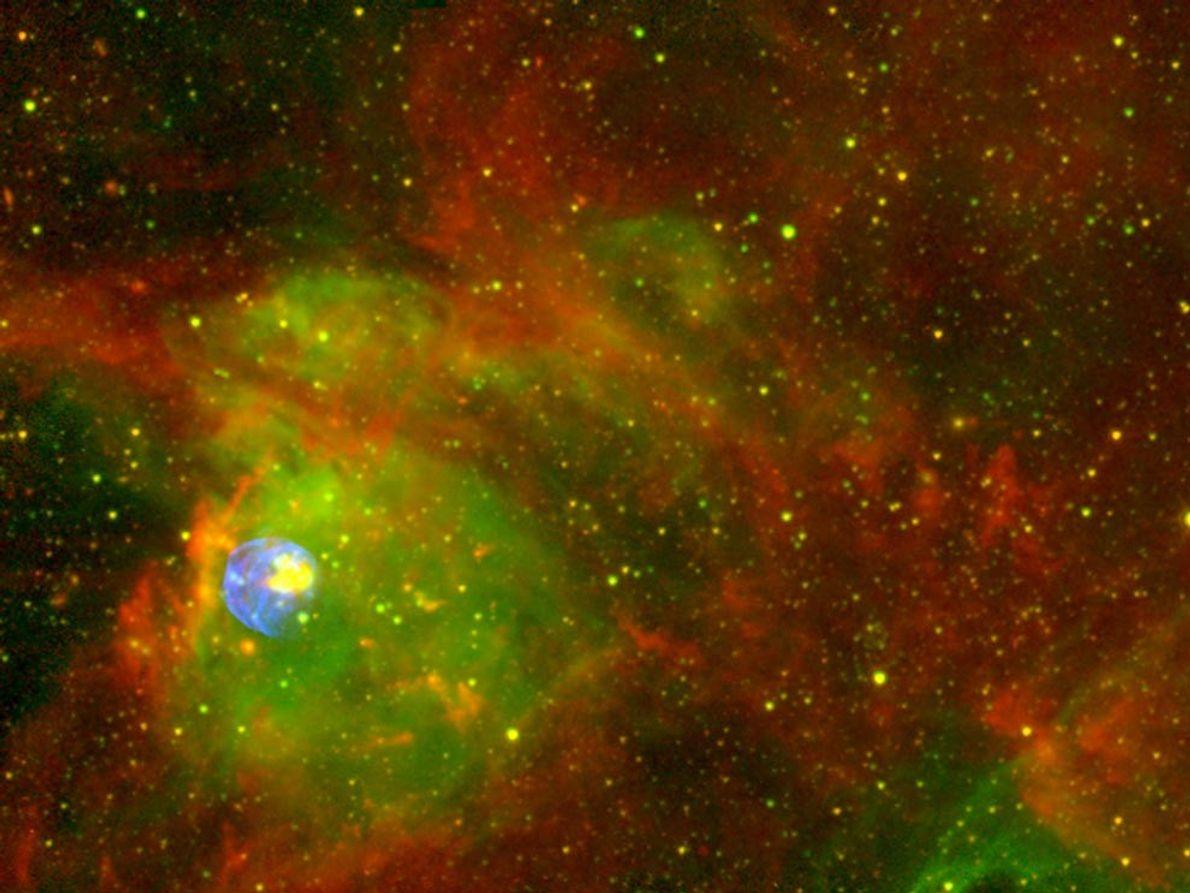 Une masse de gaz luit parmi les rémanents de supernova. Il y a à peine 2000 ...