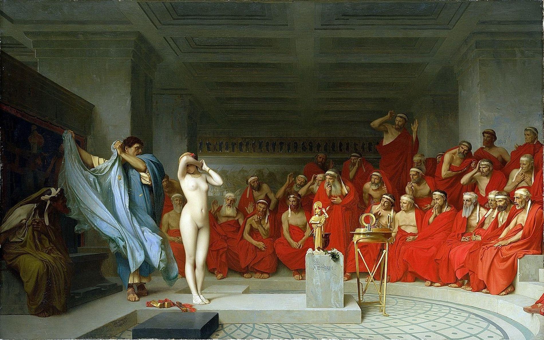 PHRYNÉ DEVANT SES JUGES - L'anecdote de Phryné nue devant l'assemblée de l'Aéropage a inspiré Jean ...