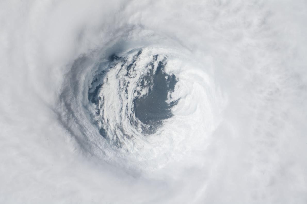 L'ouragan Michael a touché la Floride, comme le montre cette image prise depuis l'ISS le 10 ...