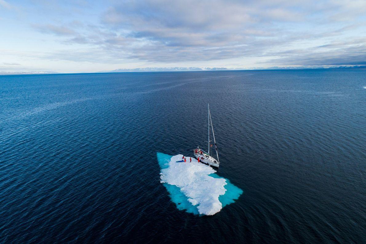 L'été est court à Svalbard, l'un des endroits les plus froids de la planète, mais à ...