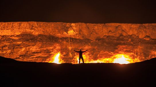 La Porte de l'Enfer est un cratère qui se consume depuis des dizaines d'années au cœur ...