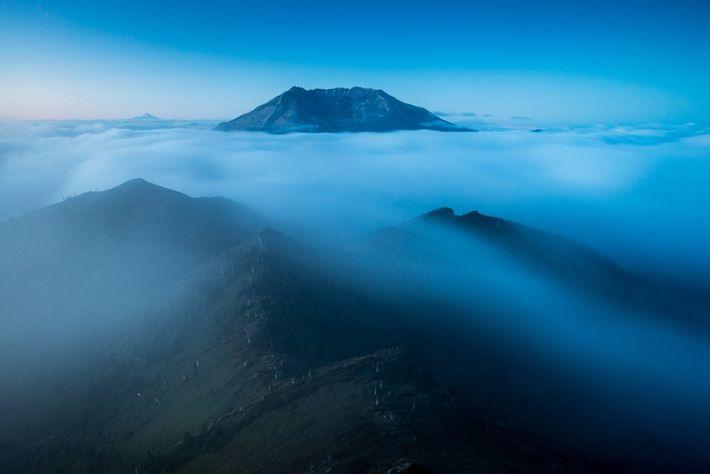 Le sommet de Coldwater offre une vue imprenable sur le cratère du mont Saint Helens et ...