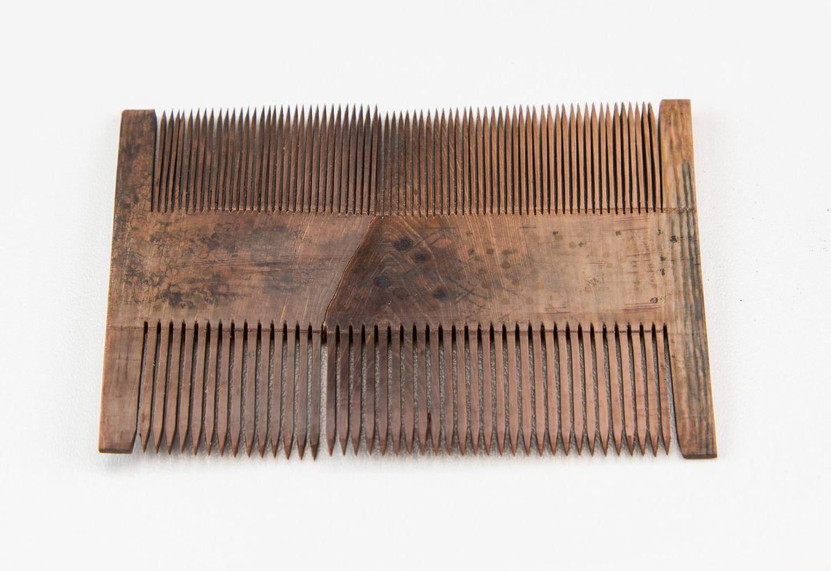 Image d'un peigne en bois utilisé pour la toilette, préservé dans une épave de la Mer ...