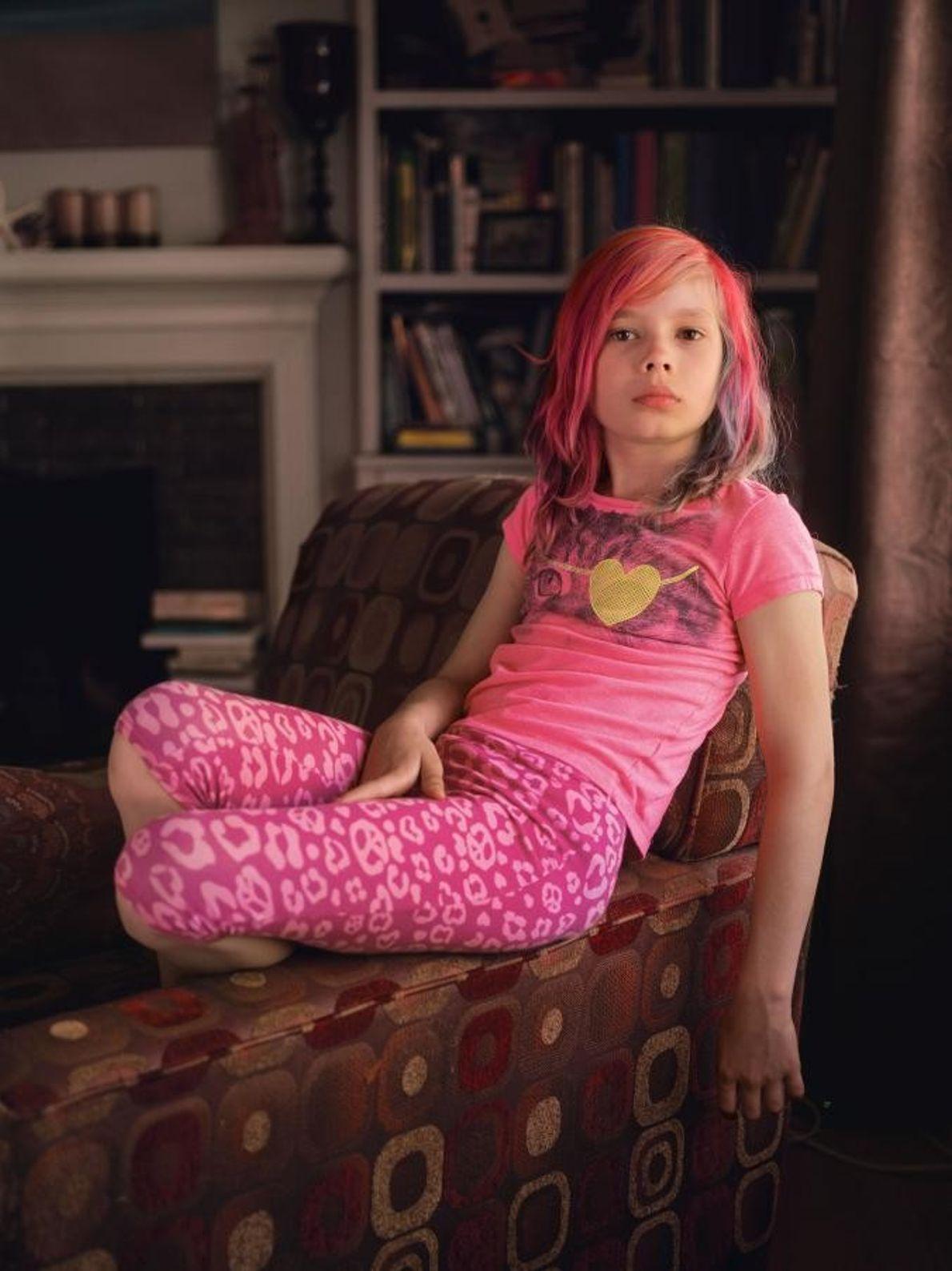 Avery Jackson, une jeune fille américaine de 9 ans, a posé pour la couverture du numéro ...