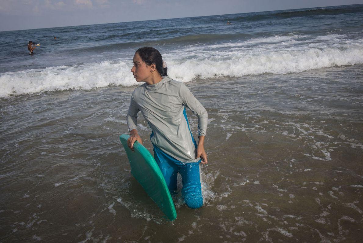 Pour de nombreux Gazaouis, la mer est le seul et unique endroit qui leur permet d'oublier ...