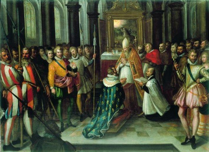 Le 25 juillet 1593, en la basilique de Saint-Denis, Henri IV abjure le calvinisme et se ...