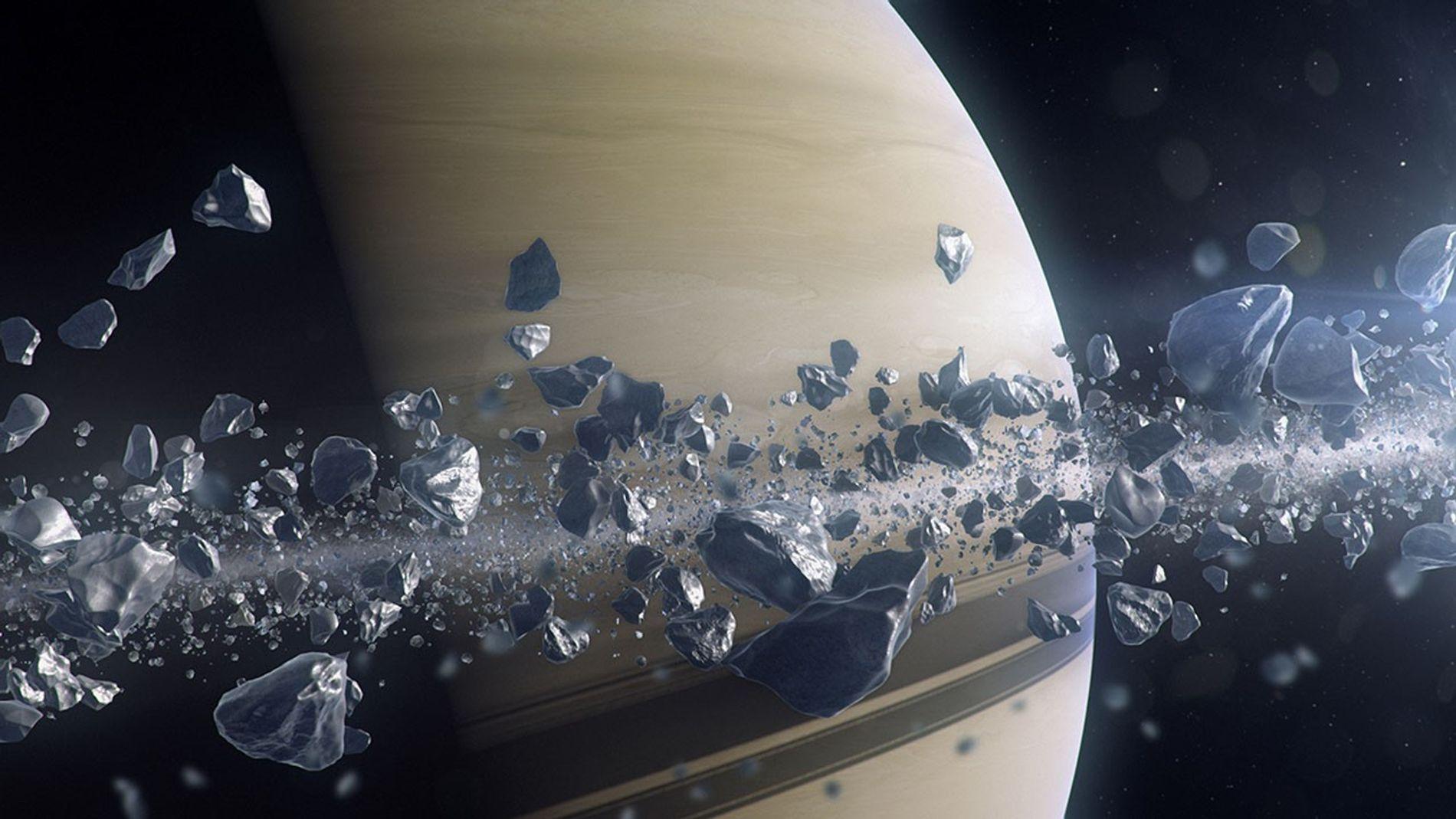 D'ici quelques milliers d'années, Saturne aura aspiré son anneau le plus proche.