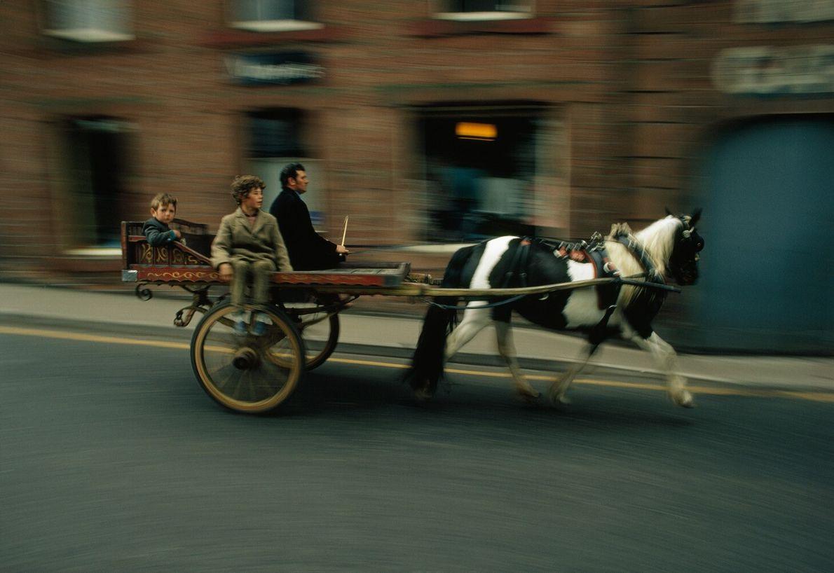 Angleterre, 1972 : la foire aux chevaux d'Appleby se tient tous les ans à Appleby-in-Westmoreland dans le ...