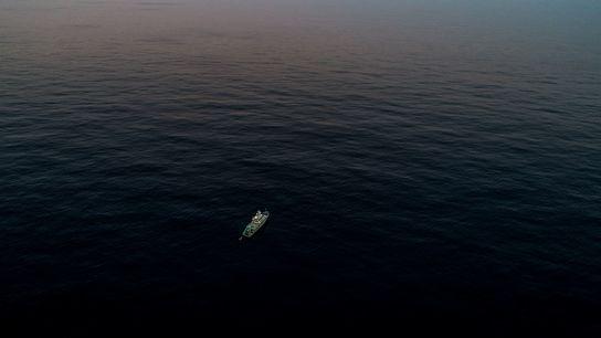 Voici le navire de recherche MV Alucia, à 160 kilomètres environ au large du cap Cod. ...