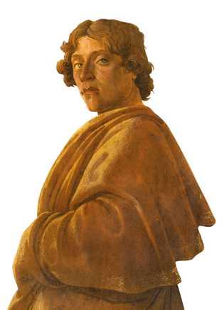 """Botticelli a intégré cet autoportrait dans son """"Adoration des mages"""", 1475-76, Galerie des Offices, Florence"""