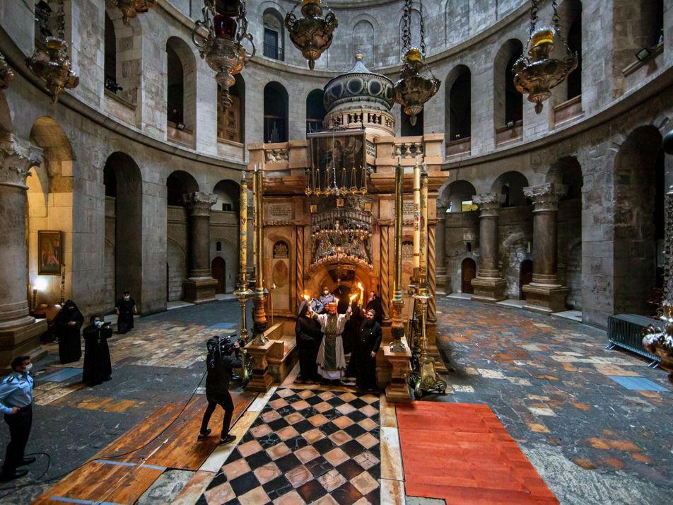 La cérémonie orthodoxe du Feu sacré