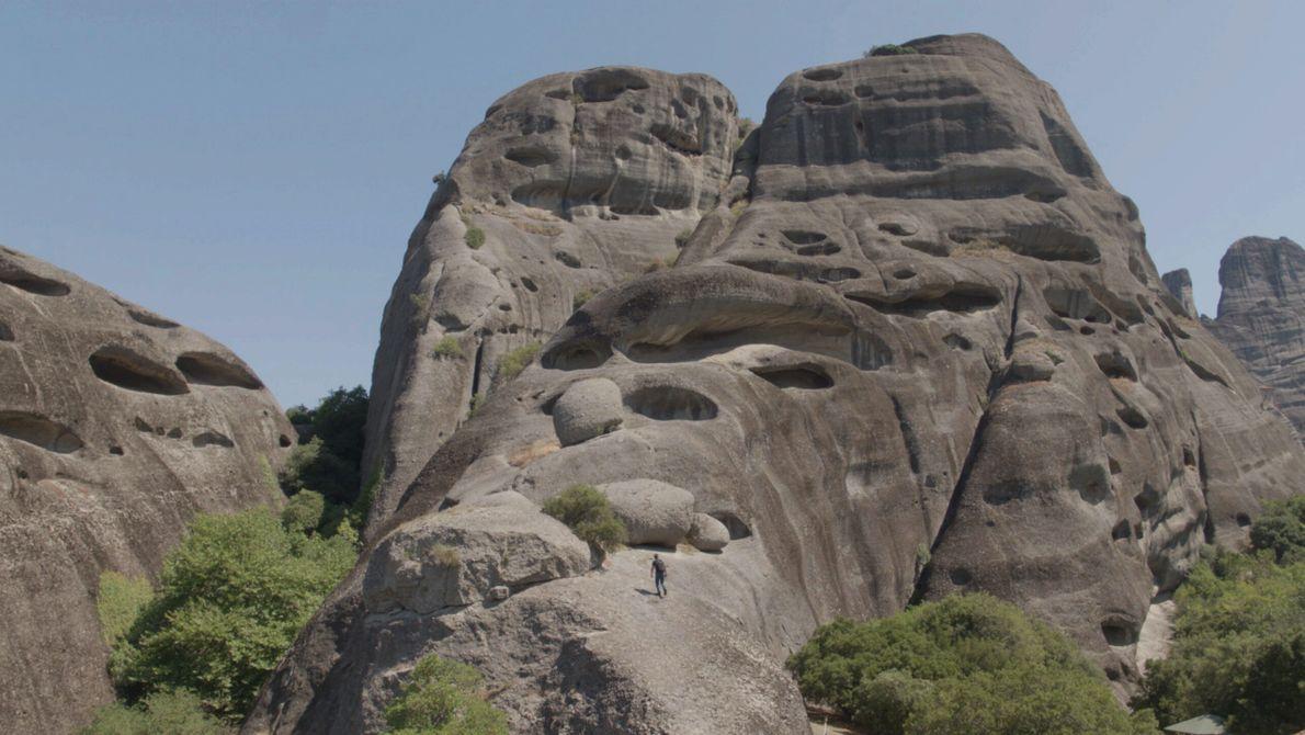 Grèce : les Météores sont une formation géologique issue d'un mélange de plusieurs roches, un conglomérat qu'on ...