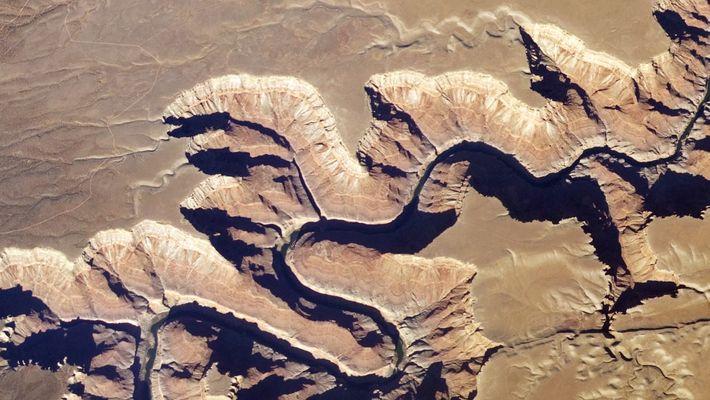 Le Grand Canyon vu depuis l'espace