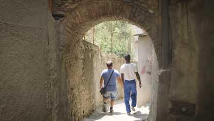 L'accueil des migrants à Camini, Italie