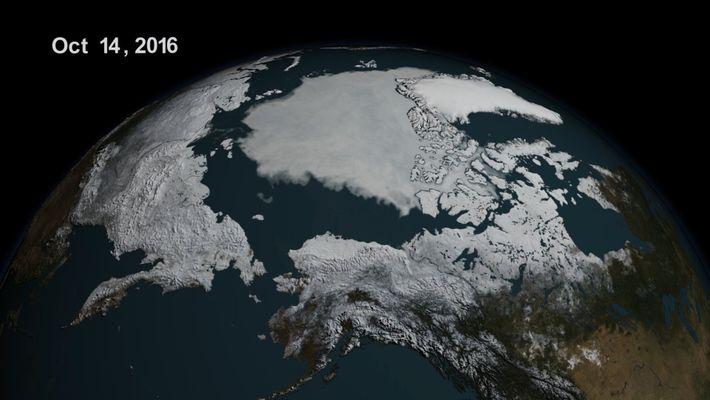 Dans l'Arctique, la banquise atteint son plus bas niveau
