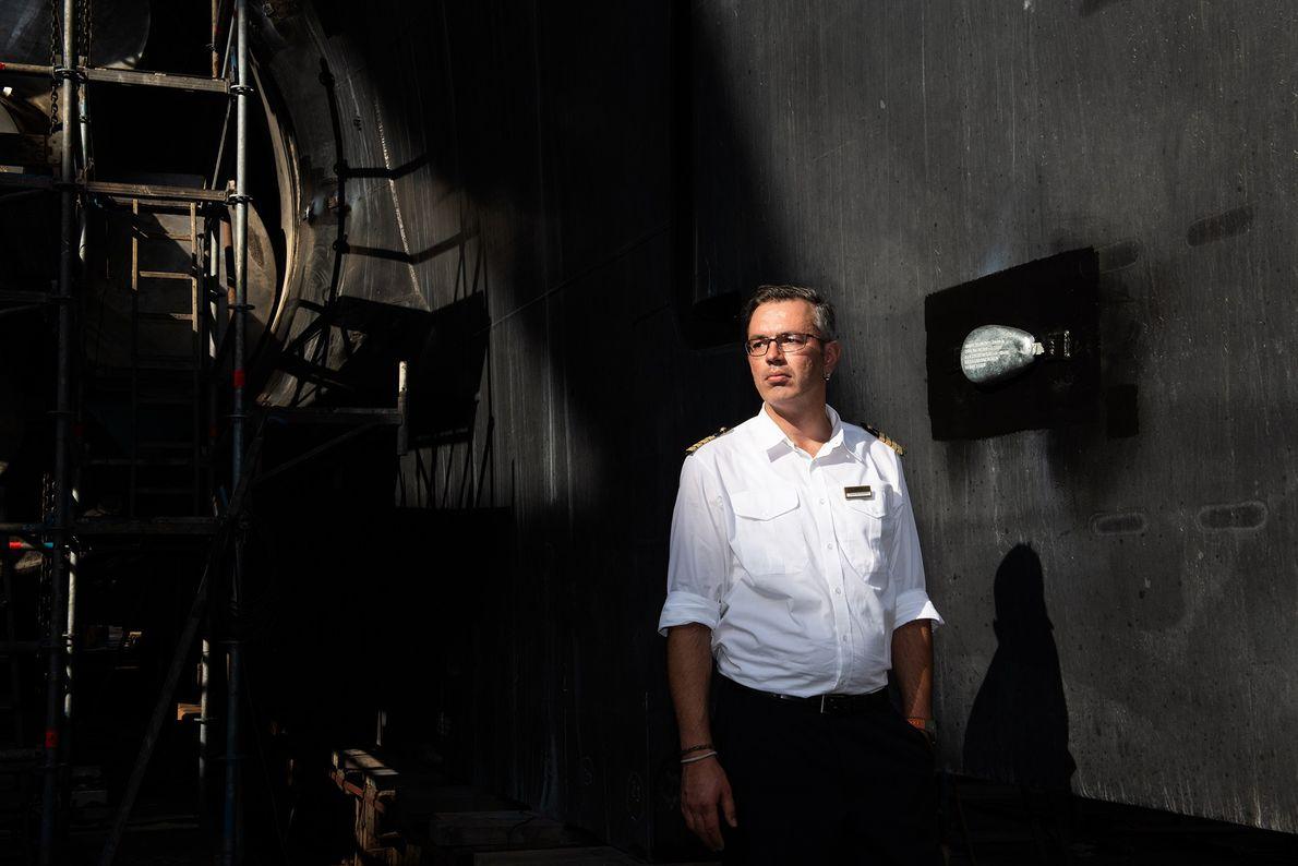Thomas Wolf Wunderlich sera le capitaine du Polarstern pour les quatrième, cinquième et sixième phases. Les ...