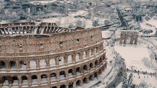 Rome est couverte de neige