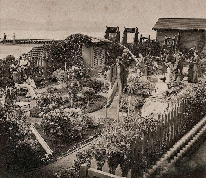 Sur cette image capturée en 1869 par l'un des pionniers de la photographie, Eadweard Muybridge, on ...