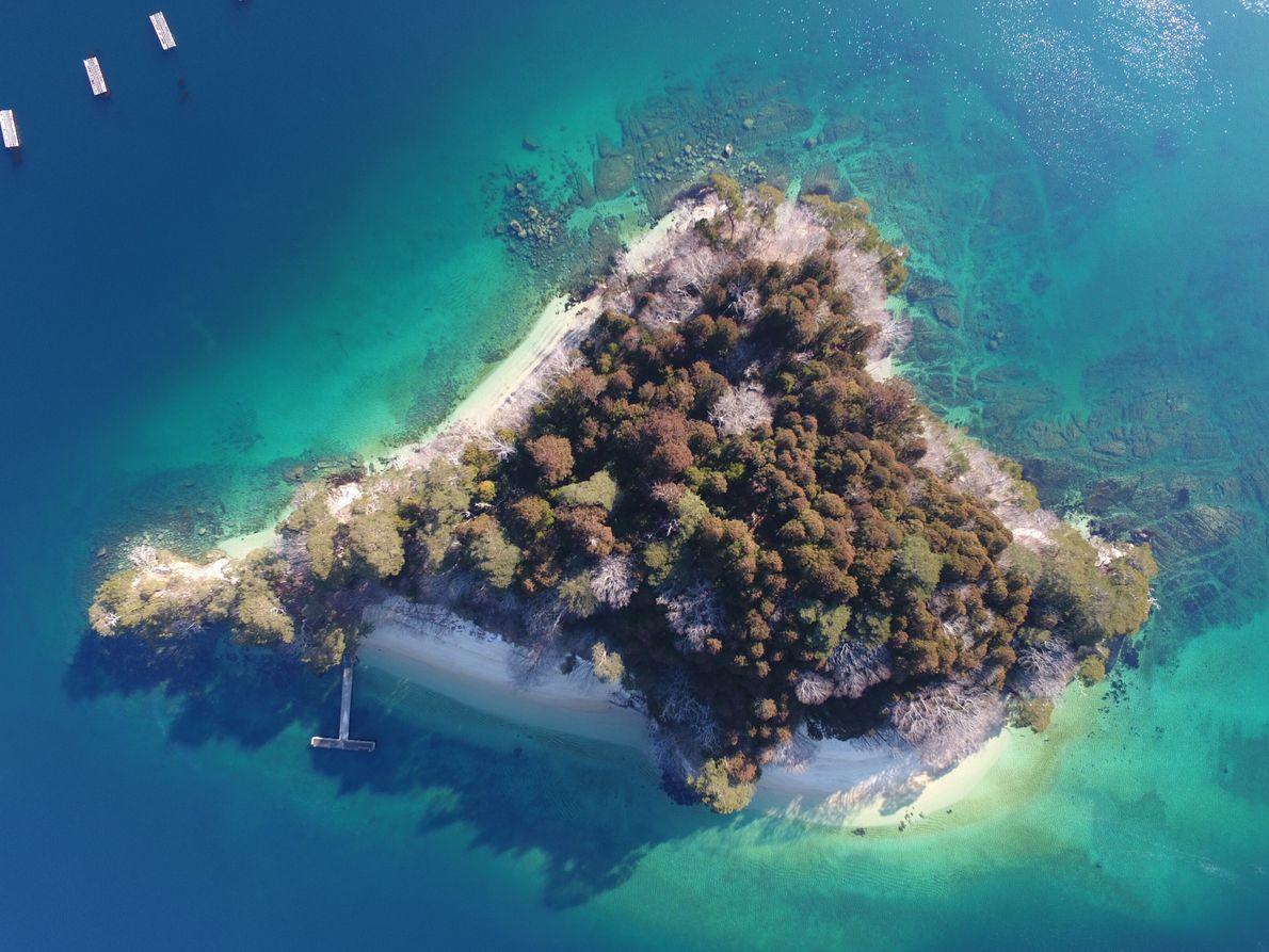 """Orandajima (qui signifie """"l'île hollandaise"""") est une île déserte de la baie de Yamada sur la ..."""