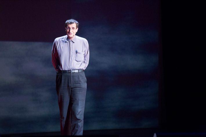 L'écrivain et chercheur en philosophie Josef Schovanec, lors d'une conférence TED à Paris
