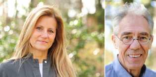 Les naturalistes Béatrice Kremer-Cochet (à gauche) et Gilbert Cochet (à droite), auteurs du livre « L'Europe réensauvagée », ...