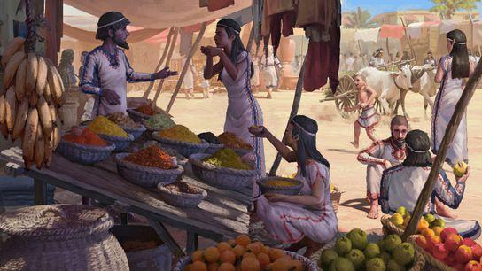 Les archéologues font remonter à l'âge du bronze les grands réseaux d'échanges commerciaux internationaux.