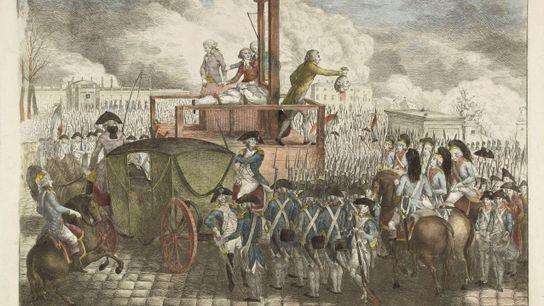 Exécution de Louis XVI, le 21 janvier 1793. Estampe, Musée Carnavalet, Paris.