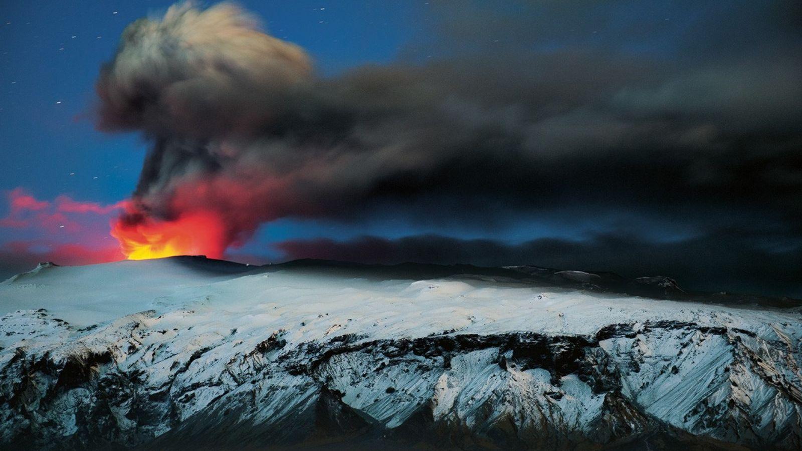 Volcan actif en Islande