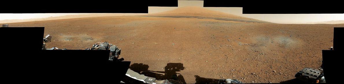 Panorama d'un cratère martien