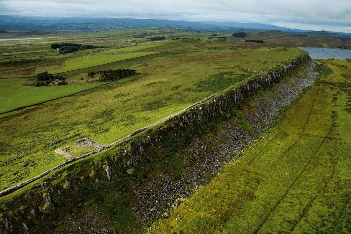 Mur d'Hadrien, Angleterre