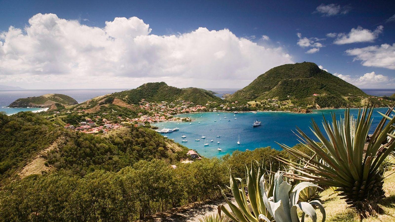 Vue depuis le Fort Napoléon, en Guadeloupe.