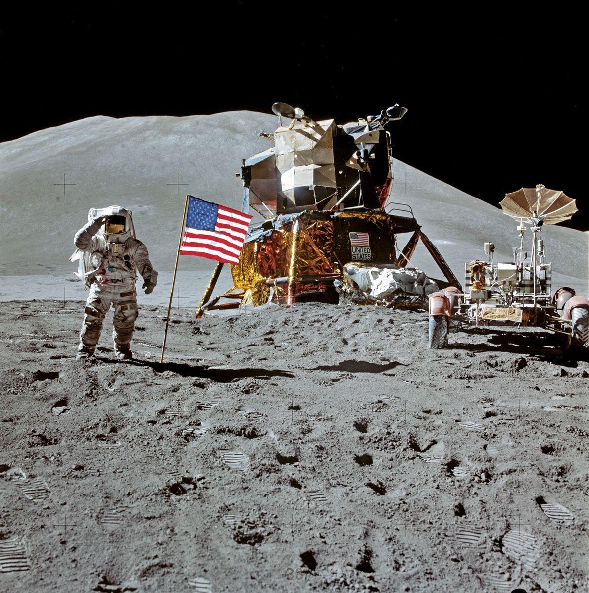James Irwin sur la Lune