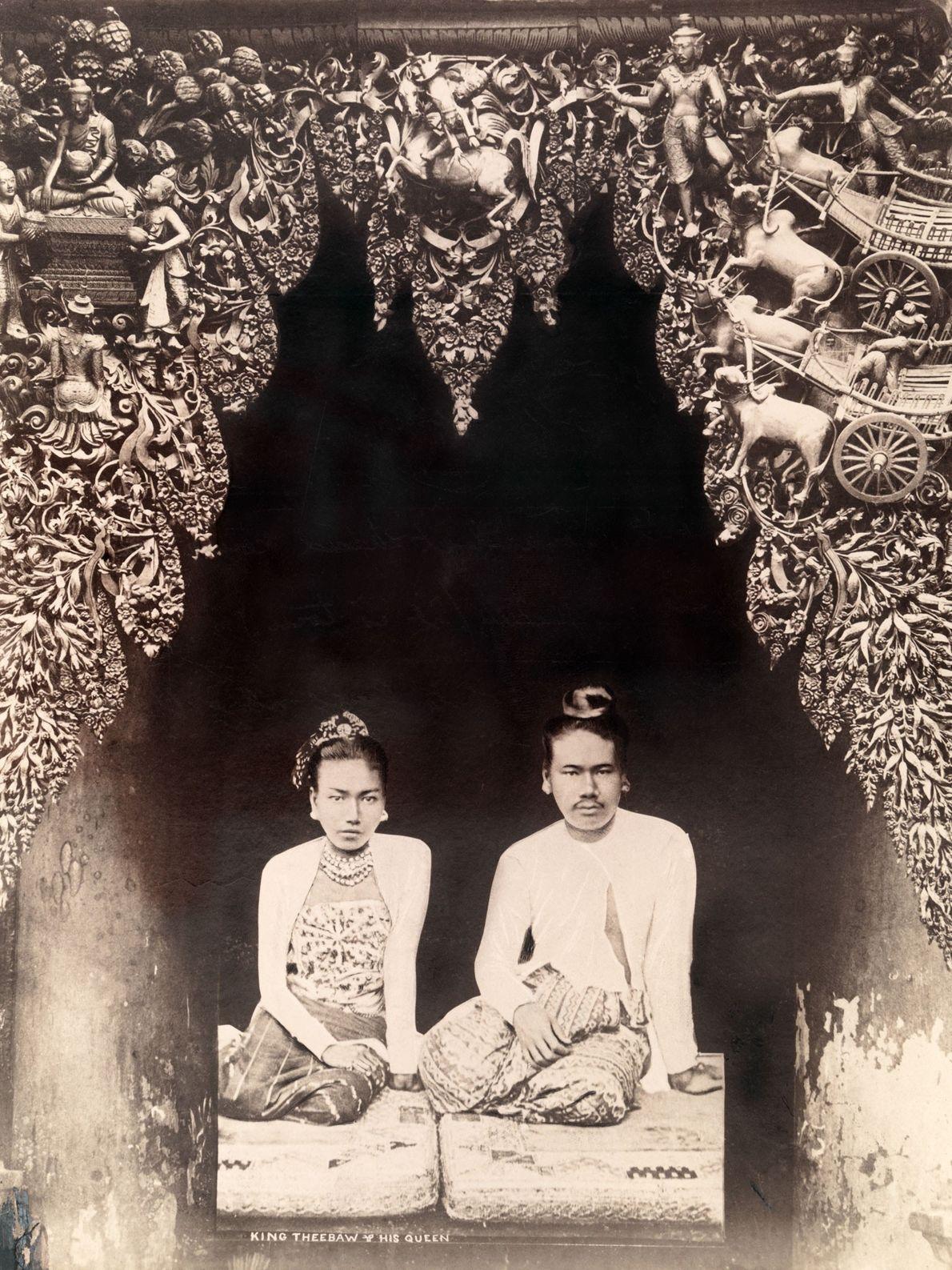 Le roi Thibaw et la reine Supayalat furent les derniers monarques de la Birmanie. Le couple ...