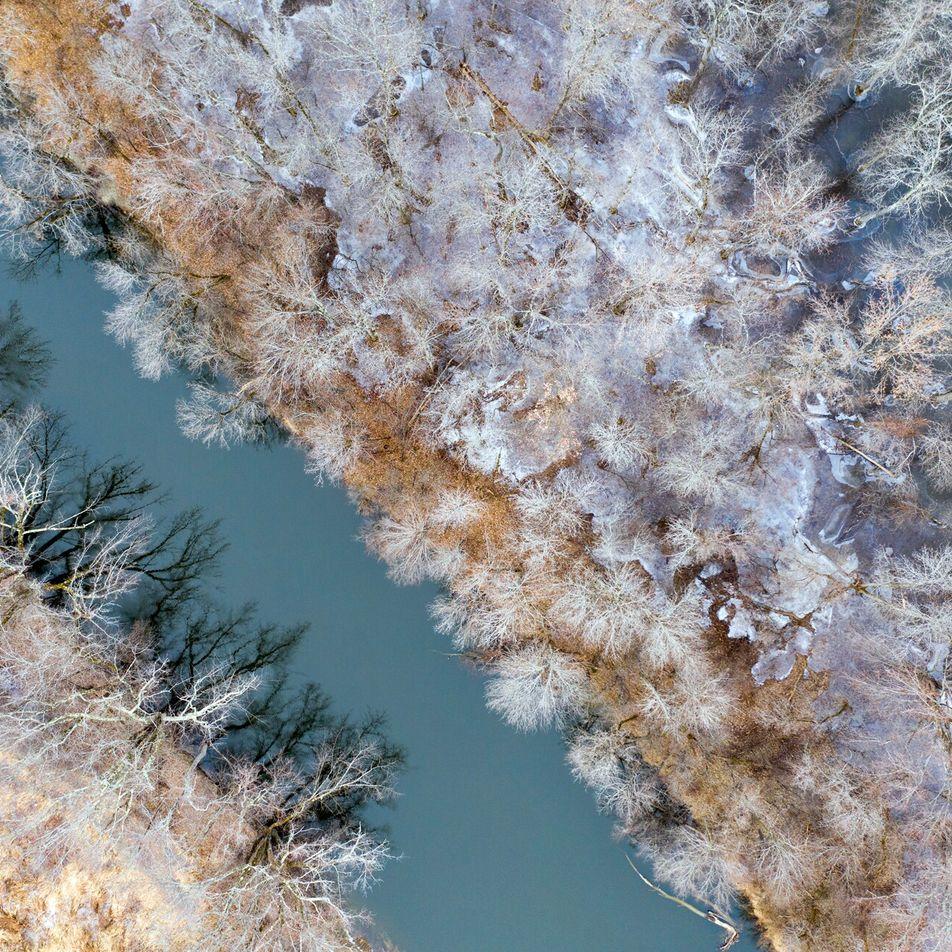 Le Vermont vu du ciel