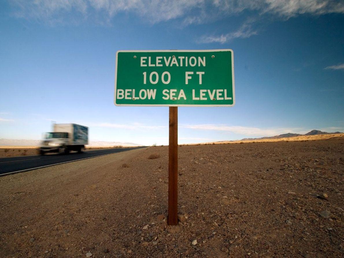 Death Valley Elevation