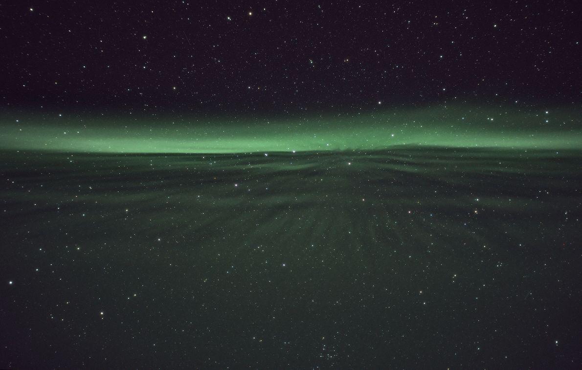 Aurore à la dérive dans le ciel de Sirkka, en Finlande.