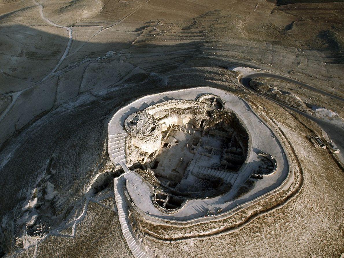 Vue aérienne de l'Hérodion