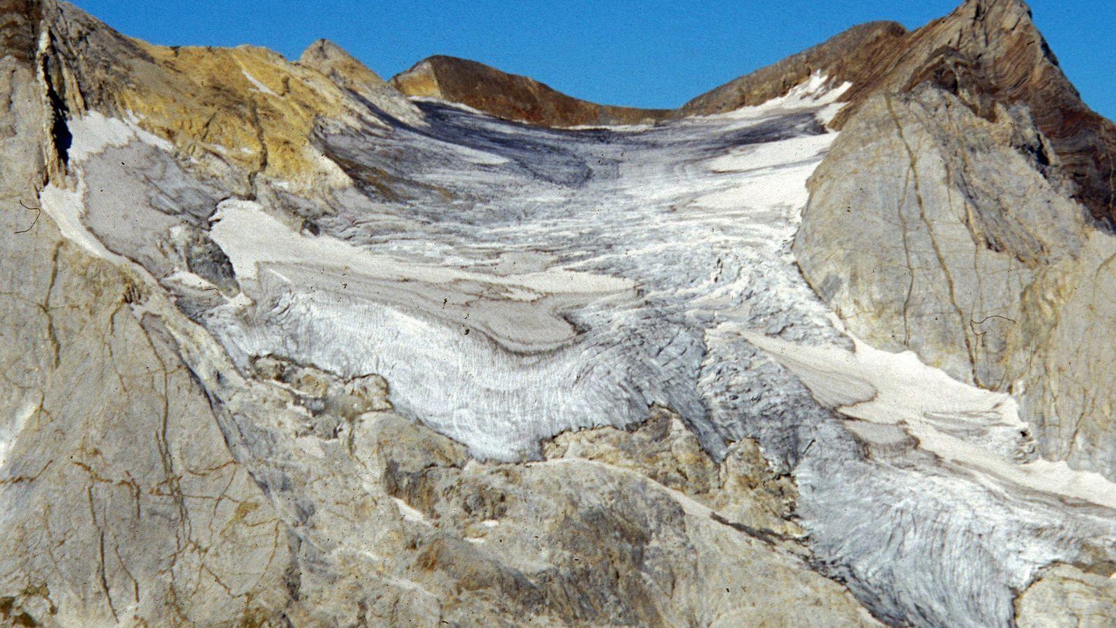 Le glacier d'Ossoue photographié en 2000.