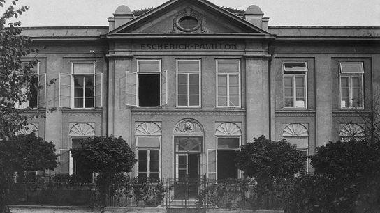 Vue de l'Hôpital Universitaire pour enfants (Vienne).