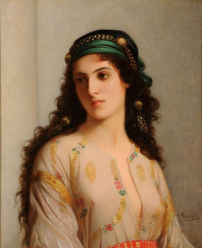 Juive de Tanger, de Charles Zacharie LANDELLE (après 1866), conservé aux Musées de Reims. Ce portrait est parfois ...