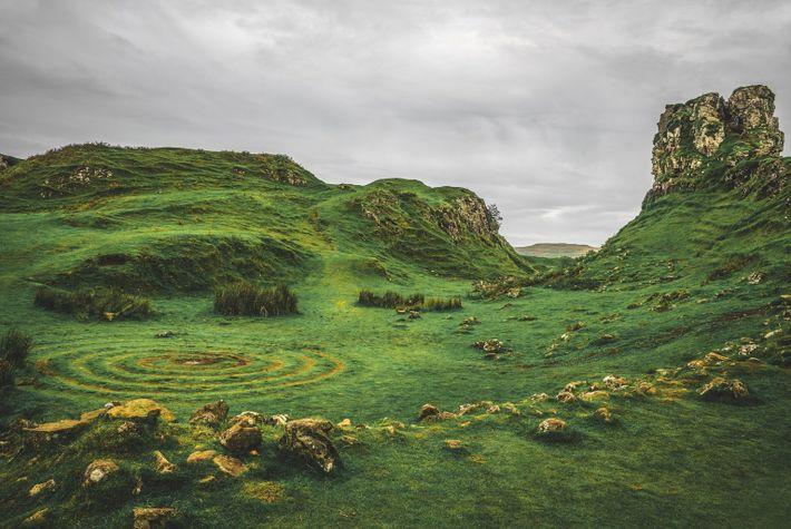 Fairy Glenn landscape at Scotland