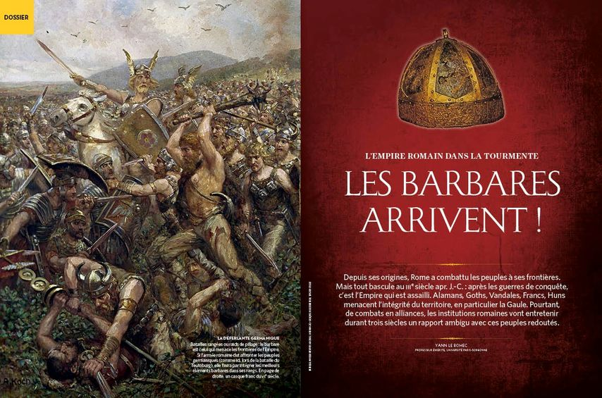 Les Barbares arrivent,l'empire romain dans la tourmente.