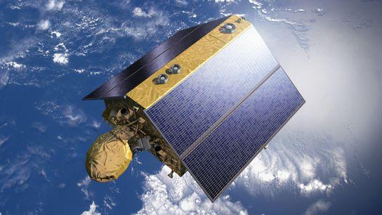 Représentation artistique de Sentinel-6. Sentinel-6 utilise un radar pour fournir des observations précises et en temps voulu ...